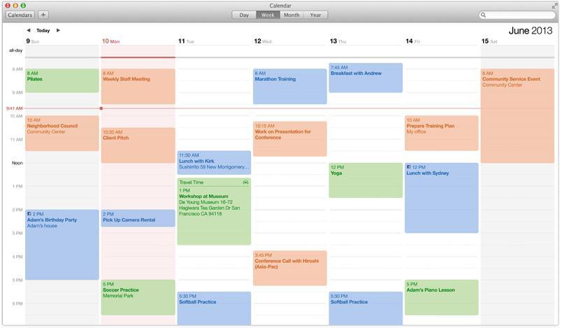 Kalenderen har fått ny design.Foto: Apple