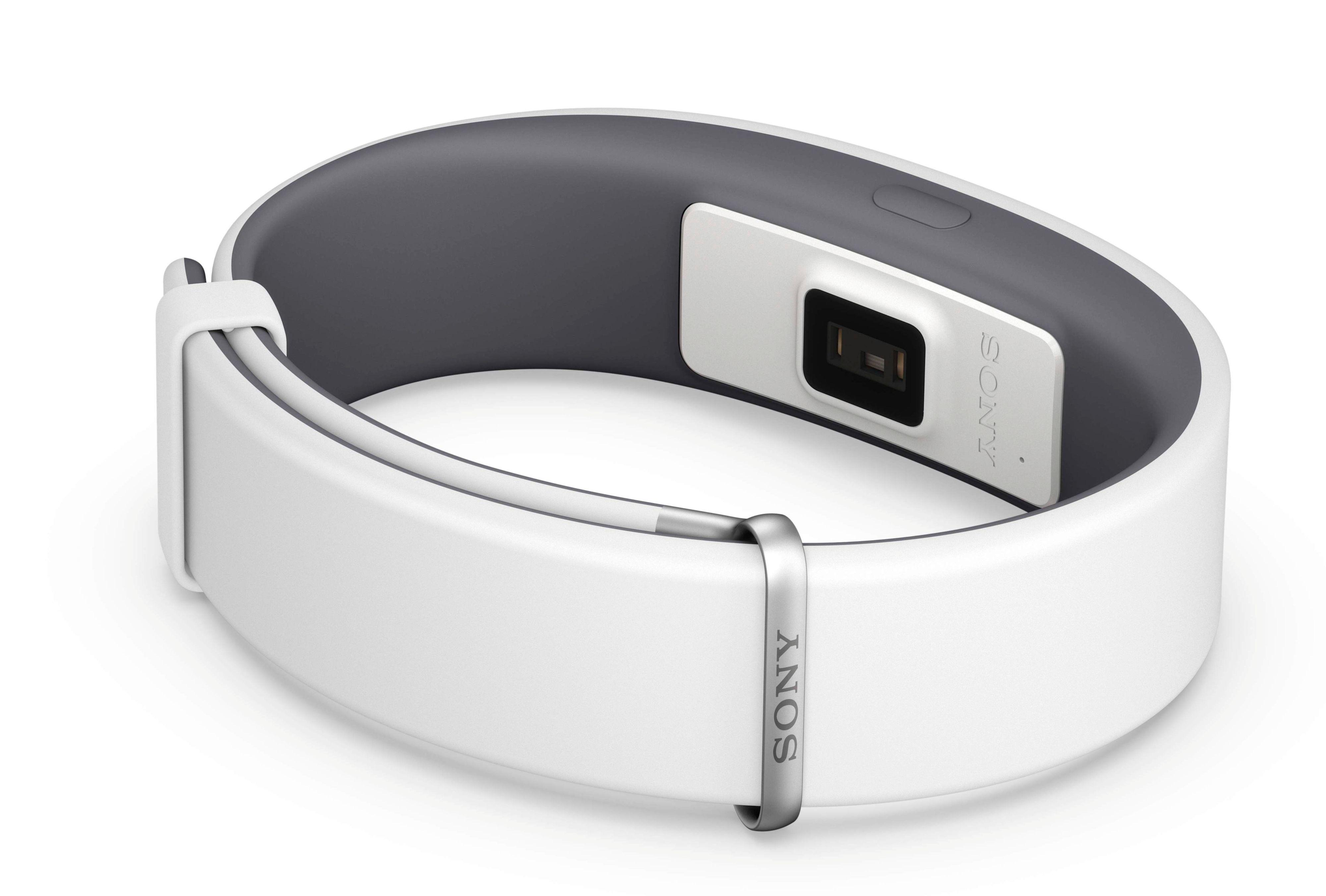 Armbåndet har en pulsmåler på innsiden. Foto: Sony