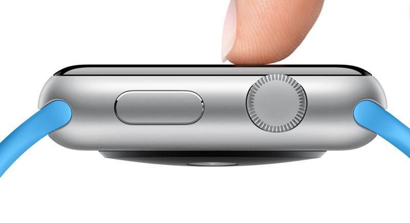 Apple Watch-skjermen skjelner mellom lett berøring og kraftigere press. Foto: Apple