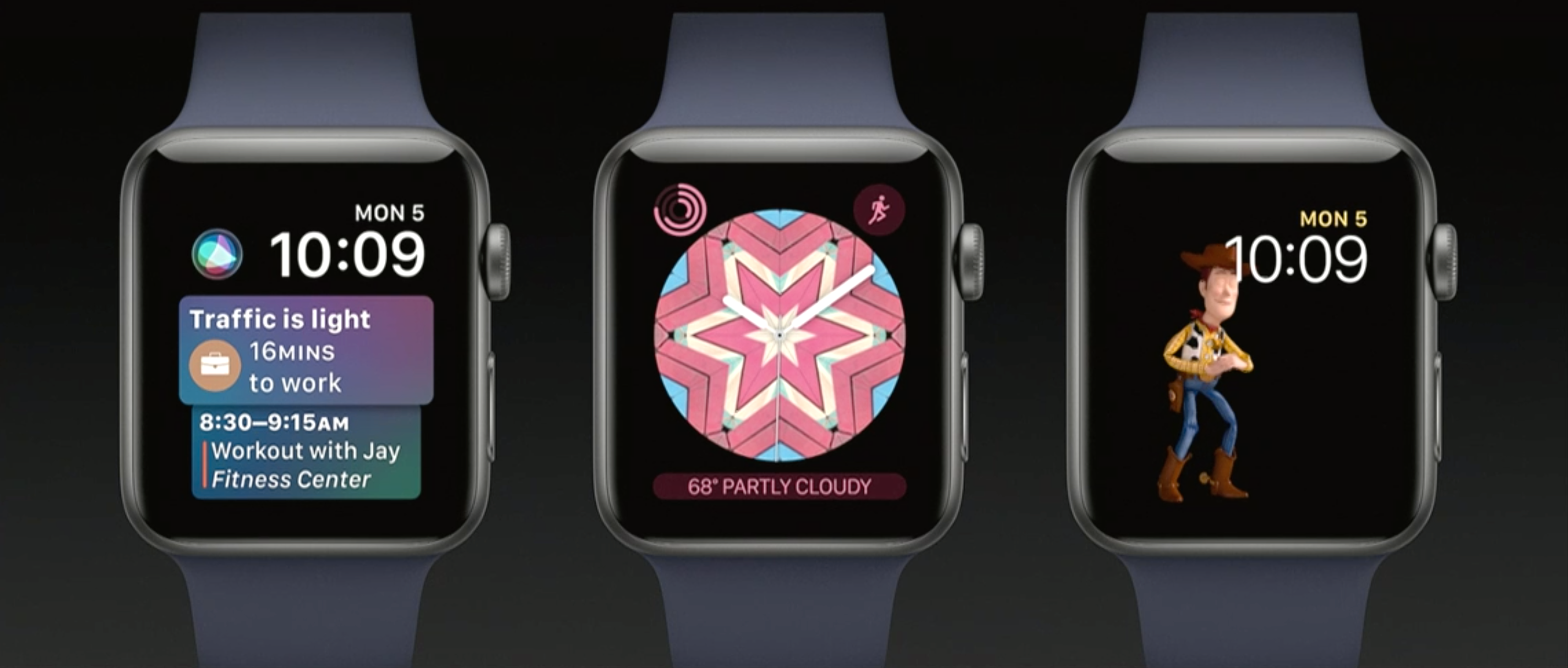 Siri Face, Kaleidoskope og Toy Story er nyheter.