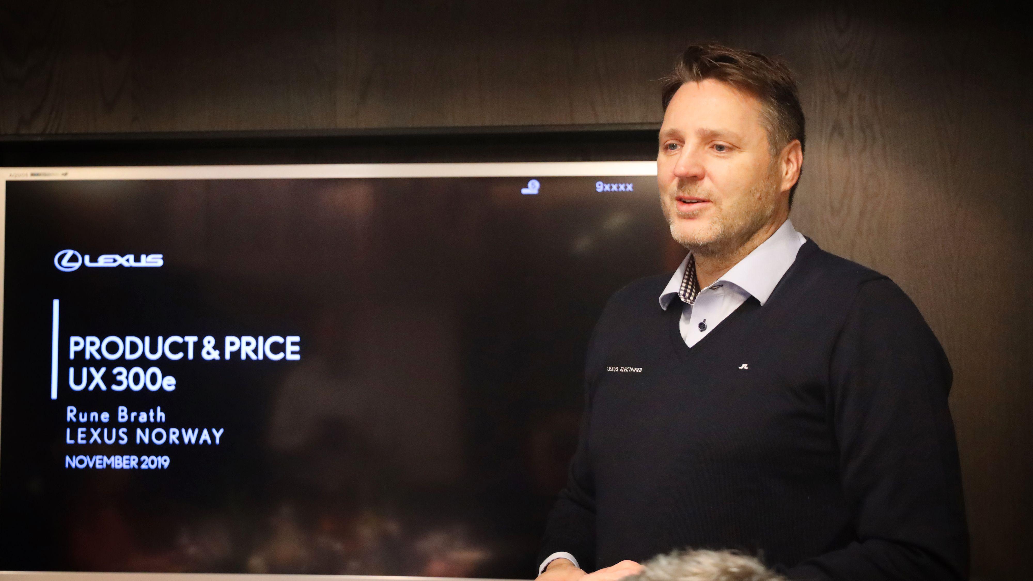 Rune Brath i Lexus Norge sier de kan garantere å levere 1000 biler før utgangen av 2020.