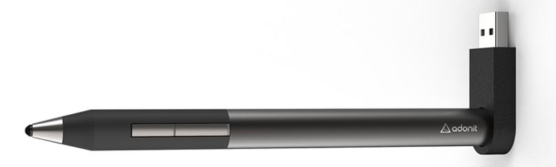 Dette er Adonit Jot 4. Ved siden av Wacoms produkter er den muligens den pennen som har bredest støtte i ulike apper.Foto: Adonit